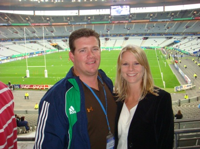 Aaron and Joanie at Stade de France