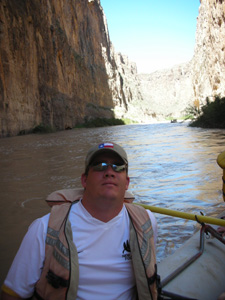 Rafting through Santa Elena Canyon