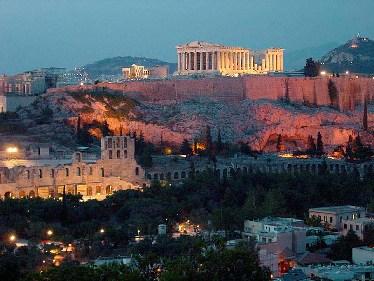 Acropolis at Night - Athens - Aaron Bulkley