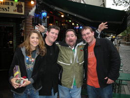 Aaron Bulkley, Timmy, Cara, & Jeremiah in Frankfurt