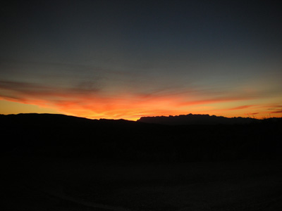 Sun Set in Big Bend, TX