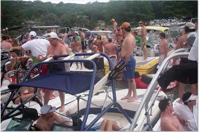 Partying on Lake Austin