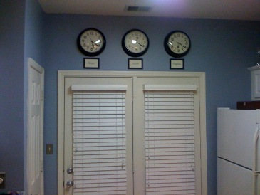 Joanie's Clocks in our new house