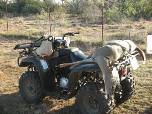 My 4-wheeler and dead doe