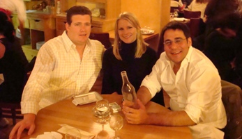 Aaron Joanie and Christophe at Dinner in Paris