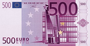 500 Euros - my favorite denomitnation