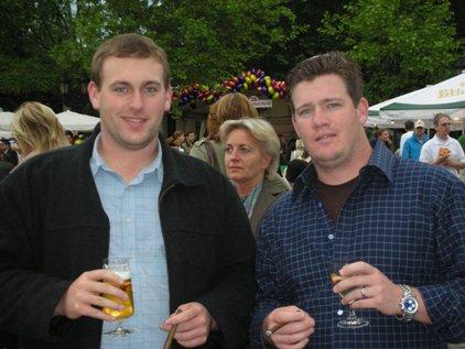 Aaron Bulkley and Jeremiah Kraft in Frankfurt, Germany