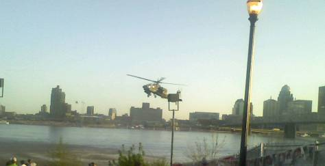 Helicopter at Thunder, Jeffersonville, Indiana