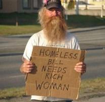 Funny Homeless man