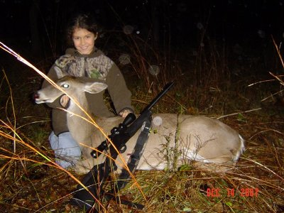 Kenedey Guerra and another Deer