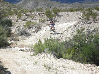 Aaron Bulkley on Mountain Bike - Lajitas, TX