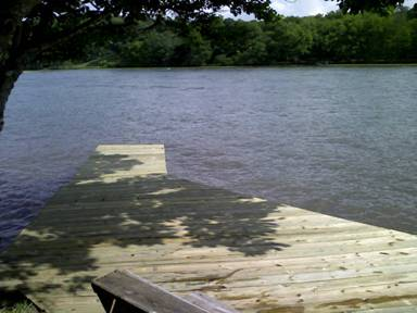My parent's new boat dock on Lake Ingram