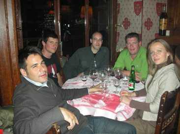 Aaron Bulkley in Paris with friends