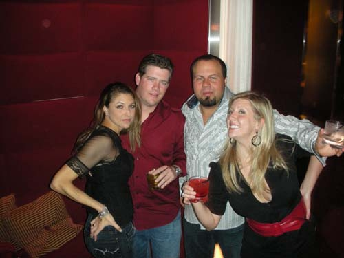 Aaron, Brent, Cara and Britney at Pure
