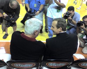 Bobby Knight and Rick Barnes at the Texas Ass Whooping Feb. 20th, 2007