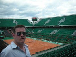 Aaron Bulkley at Rolland Garros