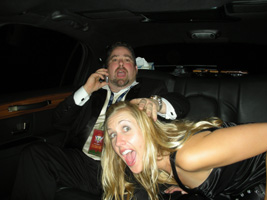 Timmy and Kristien in Limo after Grammy's