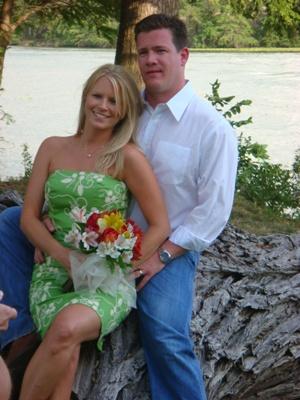 Wedding photo of Aaron and Joanie Bulkley